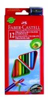 Kredki Faber Castell Eco trójkątne 12 kolorów + temperówka (120523)