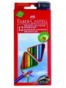 Kredki Eco Colour trójkątne Faber-Castell - 12 kolorów + temperówka (120523 FC)
