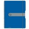 Brulion na spirali easy.orga A4/80k kratka - niebieski (11293065)