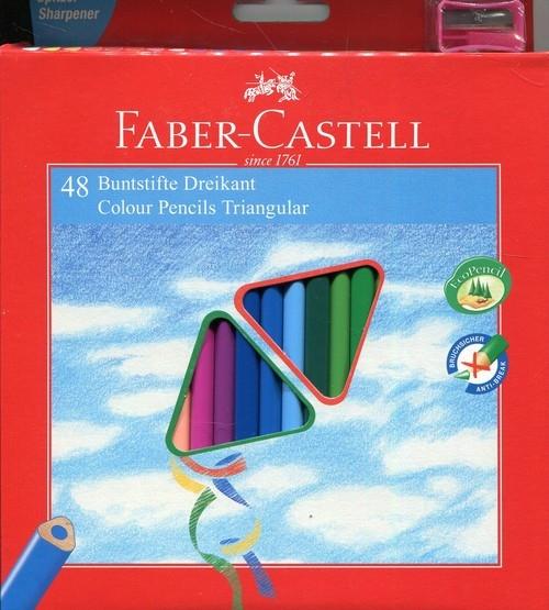 Kredki trójkątne Eco 48 kolorów+temperówka