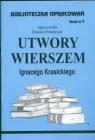 Biblioteczka Opracowań Utwory wierszem Ignacego Krasickiego