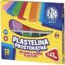 Plastelina prostokątna XXL 12 kolorów (303117001)