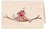 Karnet drewniany C6 + koperta Ptaszki na gałęzi