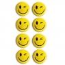 Magnesy do tablic żółte 20mm/8szt. - uśmiech (GM300-SY8)
