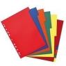 Przekładki A4 PP 10-częściowe różne kolory