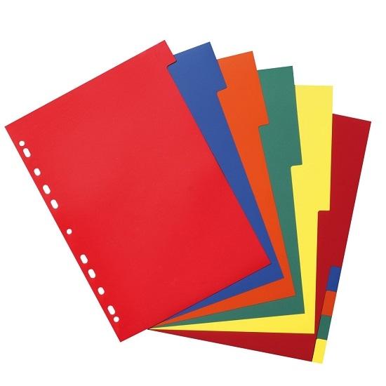 Przekładki A4 PP 10-częściowe - różne kolory (10715415)