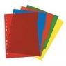 Przekładki A4 PP 5 częściowe różne kolory