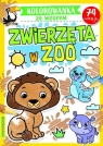 Zwierzęta w zoo. Kolorowanka ze wzorem