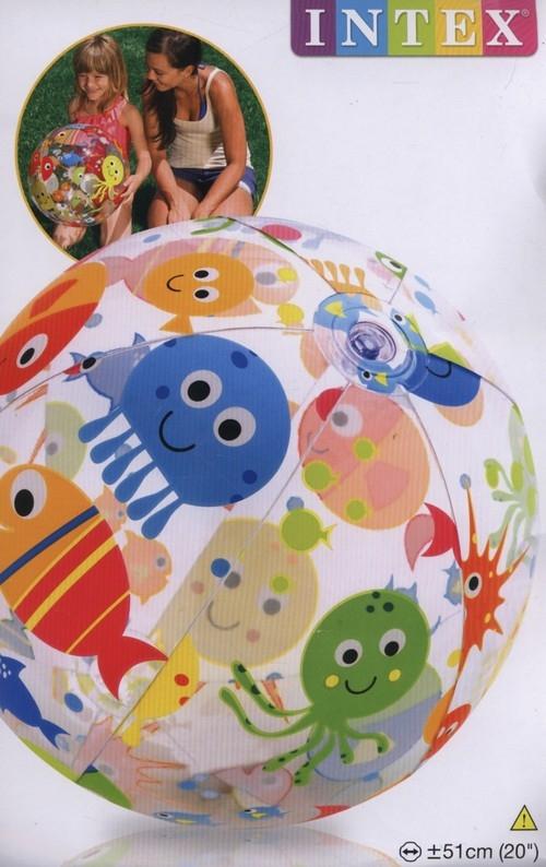 Piłka plażowa 51 cm mix wzorów (59040)