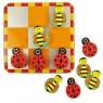 Kółko i krzyżyk magnetyczne pszczółki i biedronki