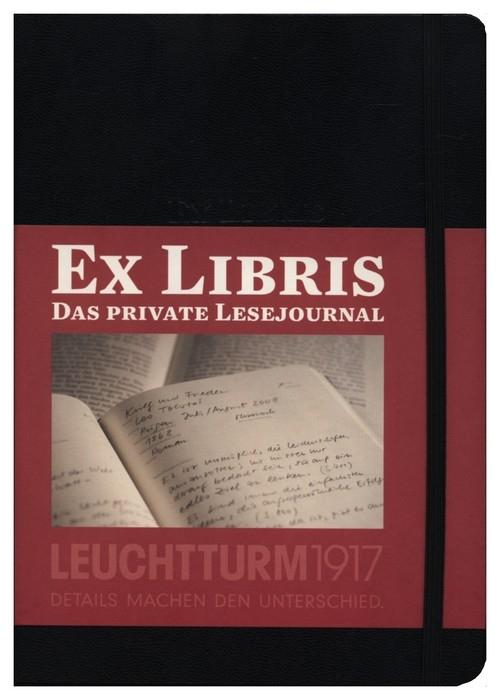 Dziennik czytelniczy Leuchtturm1917 Ex libris czarny
