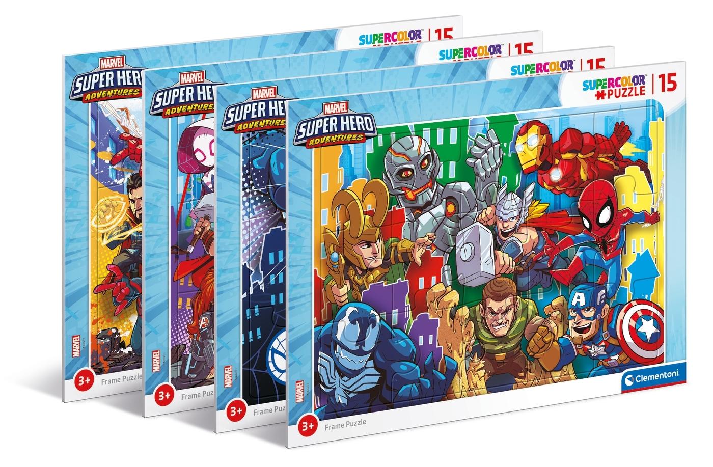 Puzzle ramkowe SuperColor 15: Superhero (22240)