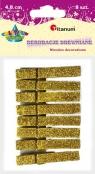 Klamerki brokatowe złote (363167)