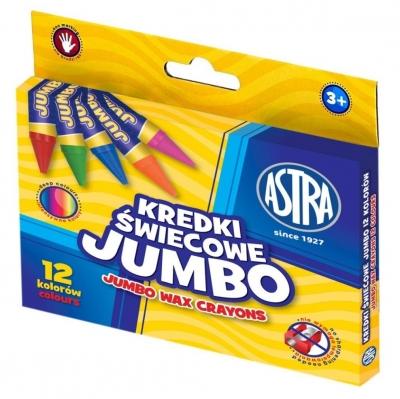 Kredki świecowe Astra Jumbo, 12 kolorów (316118005)