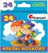 Kredki woskowe Titanum, 24 kolory (89320)