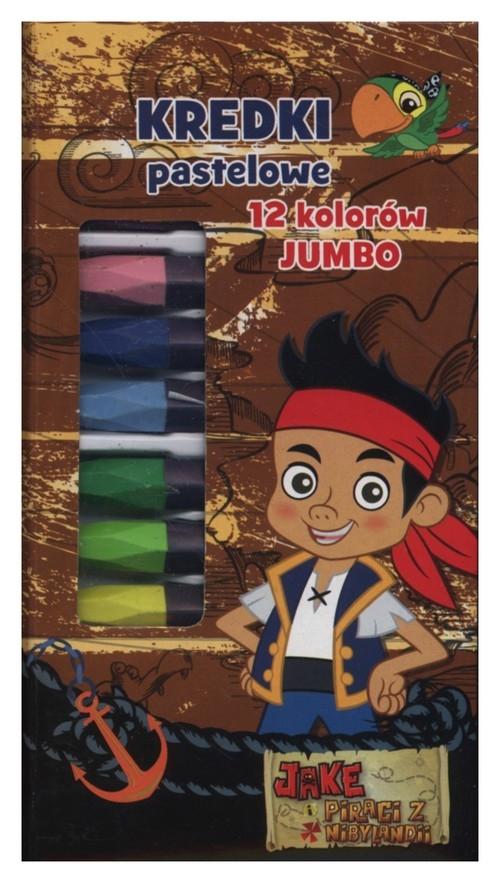 Kredki pastelowe Jumbo 12 kolorów Jake i Piraci  z Nibylandii