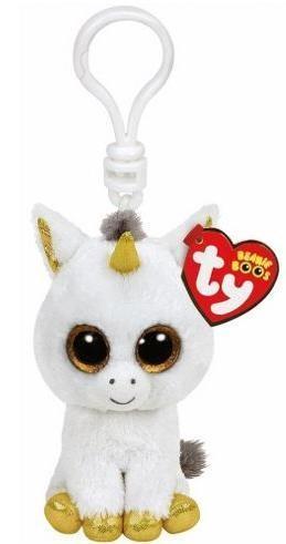 Maskotka brelok Beanie Boos: Pegasus - biały jednorożec (36640)