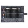 Zestaw ołówków w czarnym piórniku 8B-2H, 12 sztuk