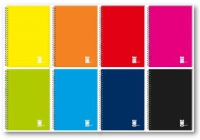 Kołozeszyt Interdruk A5/100 kartkowy w kratkę - UV One Color
