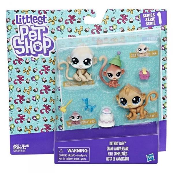 Littlest Pet Shop, Zestaw figurek - Monkeys (B9346/C2099)