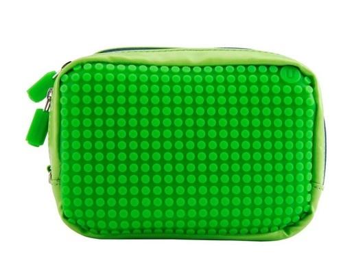 Kosmetyczka Pixelbags beżowo-zielona