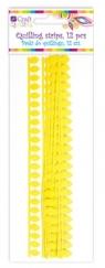 Płatkowe paski do quillingu stokrotka - żółte, 12 szt. (QGPQ-043)