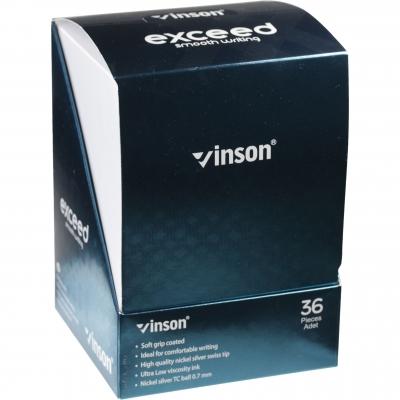 Długopis Vinson 0,7mm niebieski wkład mix kolorów 208