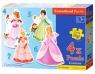 4x1 Puzzle Konturowe Pretty Princesses / B-04409