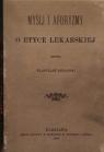 Myśli i aforyzmy o etyce lekarskiej (reprint)
