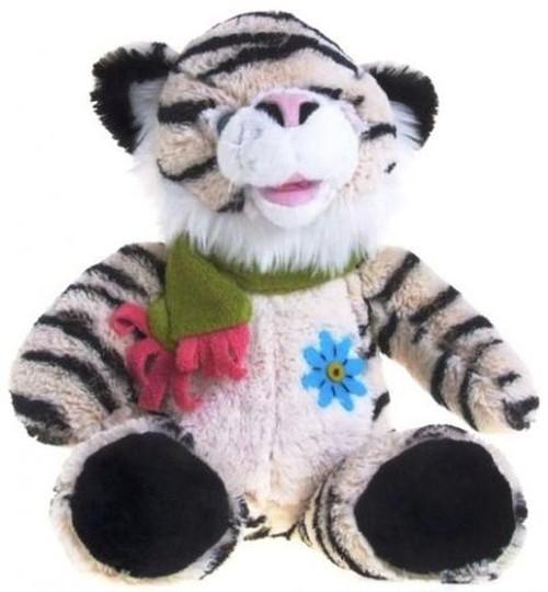 Tygrys pluszowy biały 30 cm