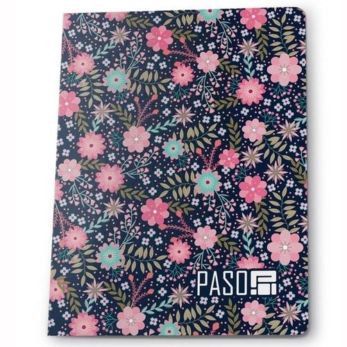 Zeszyt A5 w kratkę 60 kartek Kwiatki 5 sztuk