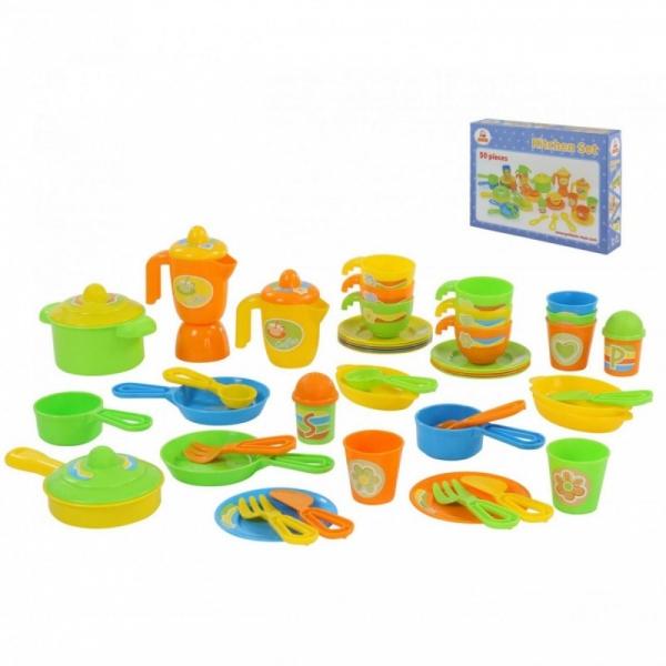 Zestaw naczyń dla dzieci 50 elementów pudełko (76410)