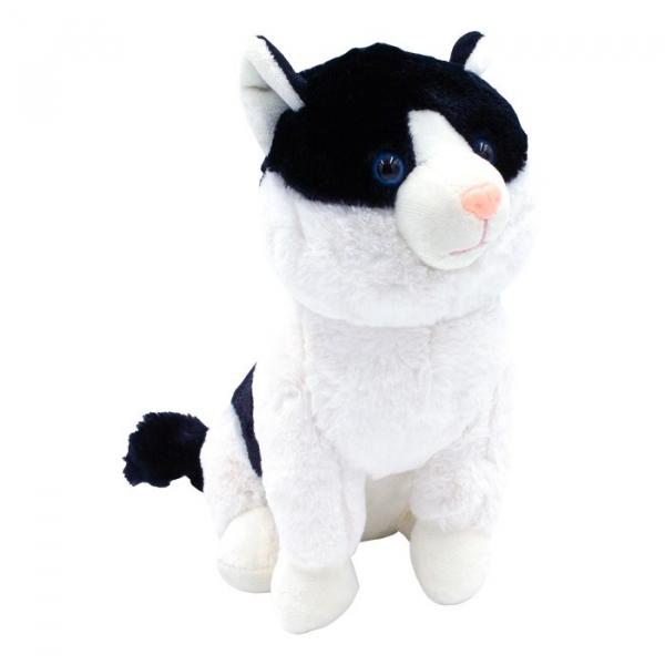 Maskotka Kotek Mruczuś czarno-biały 27cm (5095b)