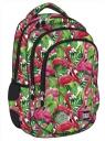Plecak 3-komorowy BP26 Flamingo Pink & Green
