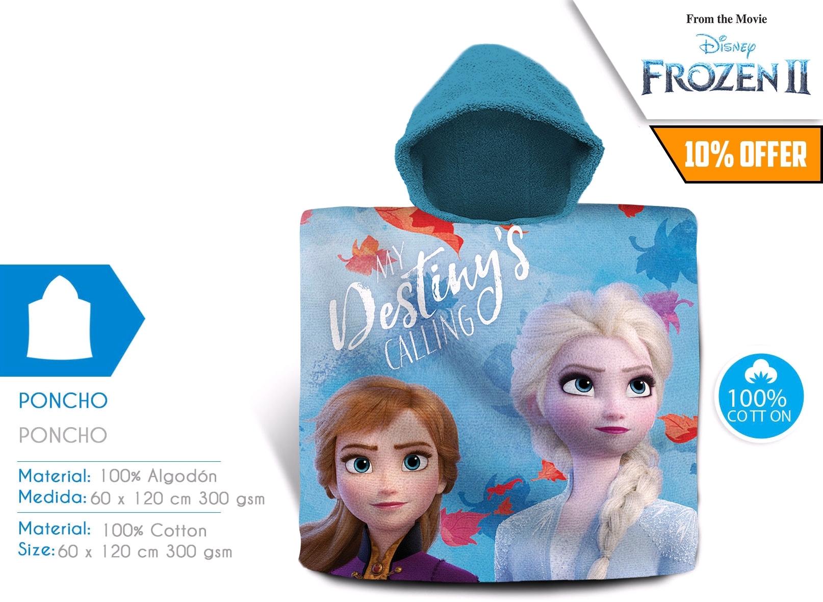 Frozen 2, poncho kąpielowe, 120x60 cm (WD21005)