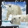 Magnes 3D Niedźwiedzie Polarne w śniegu