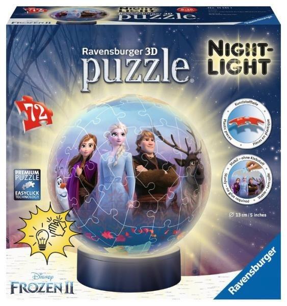 Puzzle 3D Frozen 2 - Lampka kula 72 elementy (111411)