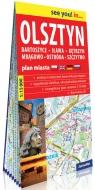 Olsztyn, Bartoszyce, Iława, Kętrzyn, Mrągowo, Ostróda, Szczytno; papierowy plan miasta 1:15 000