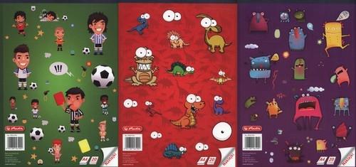 Blok rysunkowy A4 20 kartek z naklejkami 10 sztuk mix
