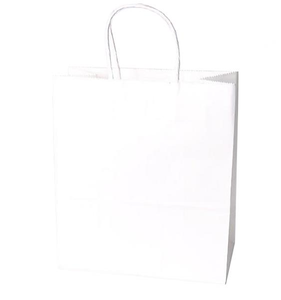 Torebka prezentowa ekologiczna M biała (0222-08)