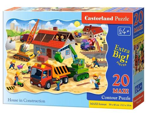 Puzzle Maxi Konturowe 20: House in Constructi