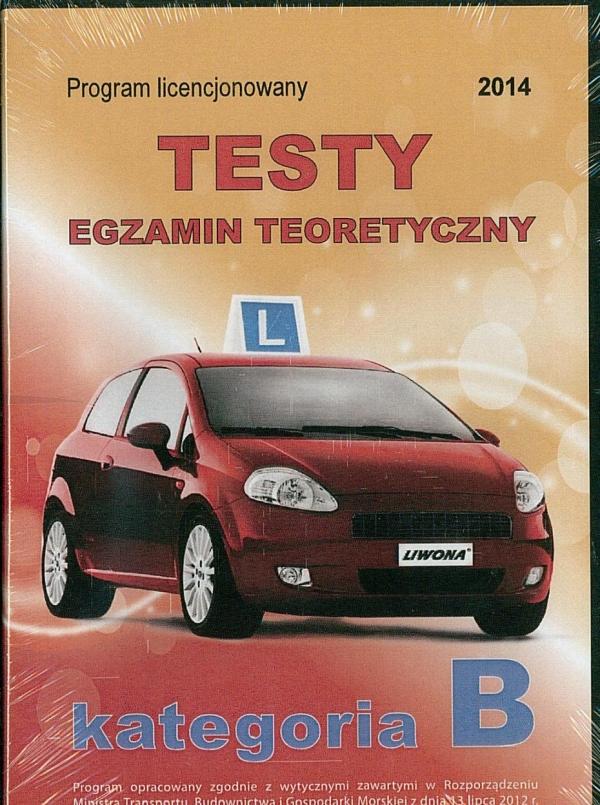 Prawo jazdy 2014 Testy kat B DVD .