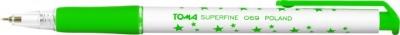 Długopis automatyczny w gwiazdki Superfine - zielony (TO-069 42)