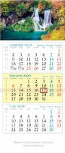 Kalendarz 2020 trójdzielny KT 11 Kaskada