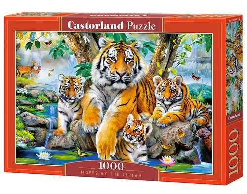 Puzzle 1000: Tigers by the Stream