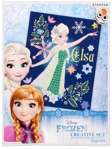 Zestaw kreatywny z cekinami Frozen (391659)