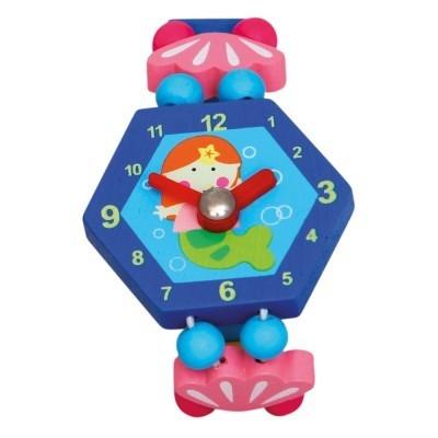 Zegarek drewniany niebieski (9086041)
