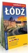 Łódź kieszonkowy laminowany plan miasta 1:22 000