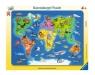 Puzzle ramkowe 30: Mapa Świata Zwierząt (6641) Wiek: 4+