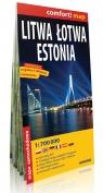 Litwa Łotwa Estonia mapa samochodowa 1:700 000